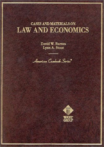 9780314001887: Barnes and Stout's Cases and Materials on Law and Economics (American Casebook Series®)