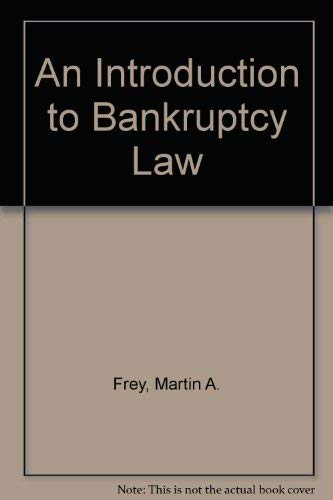 9780314001917: An Introduction to Bankruptcy Law