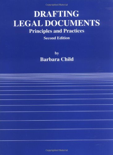 9780314003256: Drafting Legal Documents Principles and Practices (American Casebook)