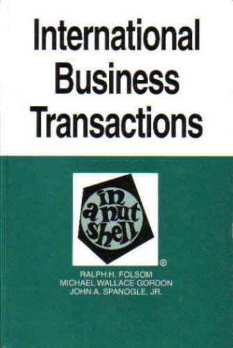 9780314007148: International Business Transactions in a Nutshell