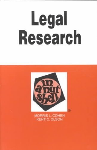 9780314007834: Legal Research in a Nutshell (Nutshell Series)