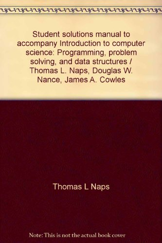 Student solutions manual to accompany Introduction to: Naps, Thomas L