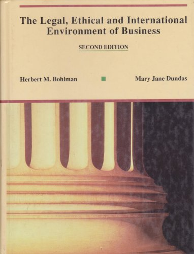 9780314009050: The Legal, Ethical and International Environment of Business