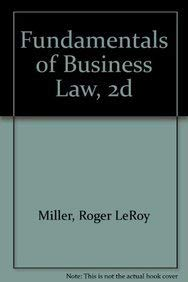 9780314010049: Fundamentals of Business Law
