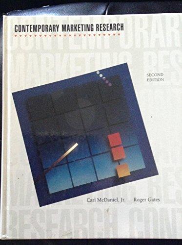 Prof carl mcdaniel abebooks contemporary marketing research mcdaniel prof carl fandeluxe Gallery