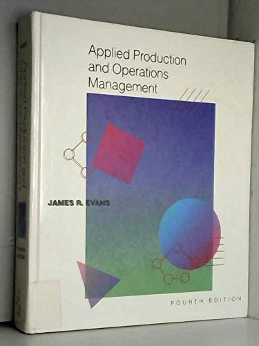 Applied Production and Operations Management: James R. Evans
