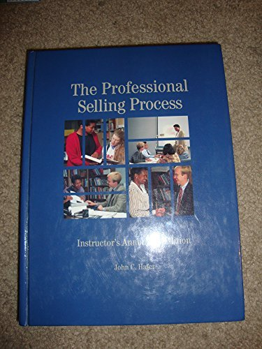 9780314011763: The professional selling process