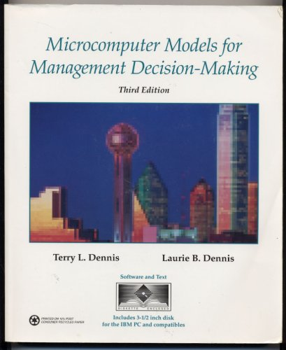 9780314012524: Microcomputer Models for Management Decision-Making: Software and Text/Book and Disk