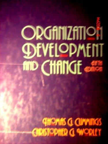 9780314012531: Organization Development and Change