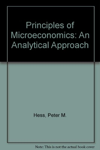 9780314012579: Principles of Microeconomics: An Analytical Approach