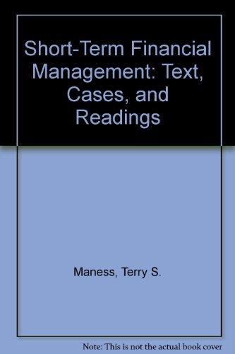 Short Term Financial Management: Zietlow, John T.,