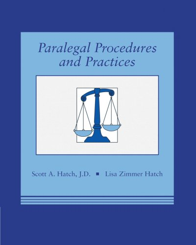 9780314013484: Paralegal Procedures and Practices