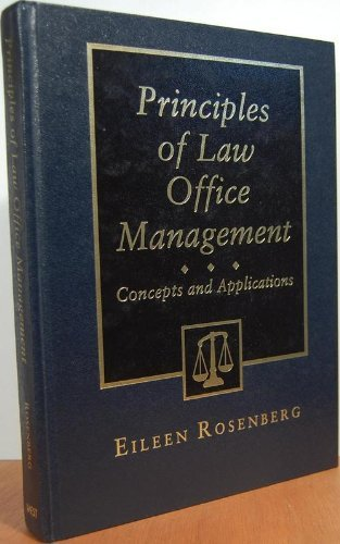 9780314013590: Principles of Law Office Management: Concepts and Applications