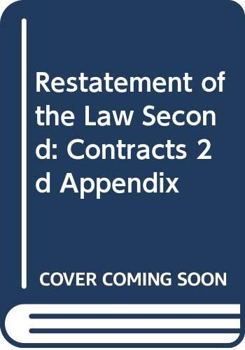 Restatement of the Law Second: Contracts 2d: n/a