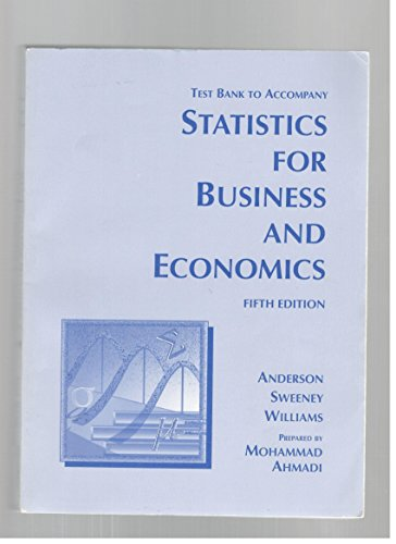 9780314016676: Test bank to accompany statistics for business and economics. Fifth edition. David R. Anderson, Dennis J. Sweeney, Thomas A. Williams