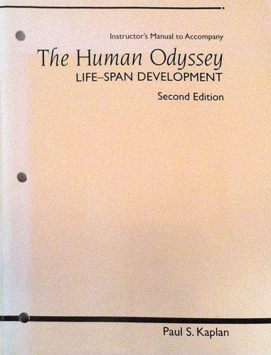Instructors manual to accompany: The human odyssey: Kaplan, Paul S