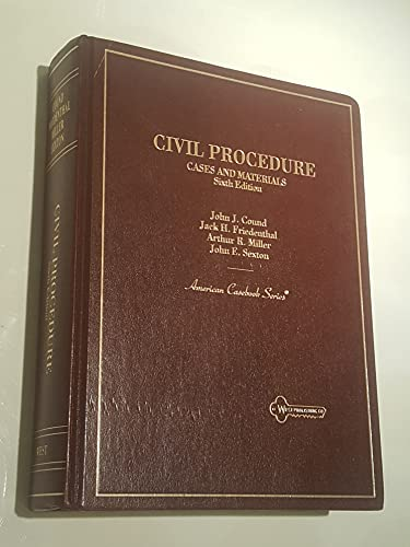 9780314022196: Civil Procedure: Cases and Materials (American Casebook Series)