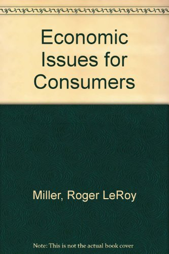 9780314022615: Economic Issues for Consumers