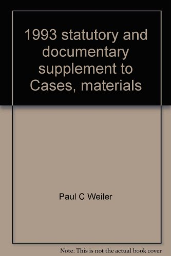 9780314022677: 1993 statutory and documentary supplement to Cases, materials and problems on sports and the law (American casebook series)
