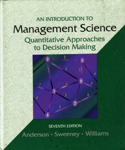 9780314024794: An Introduction to Management Science: A Quantitative Approach to Decision Making
