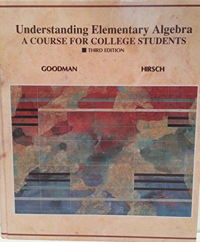 9780314025197: Understanding Elementary Algebra: A Course for College Students