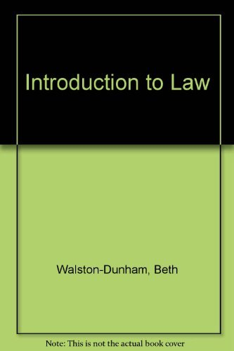 9780314025234: Introduction to Law