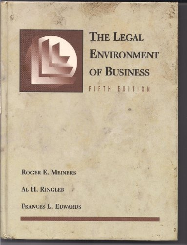 9780314026903: The Legal Environment of Business