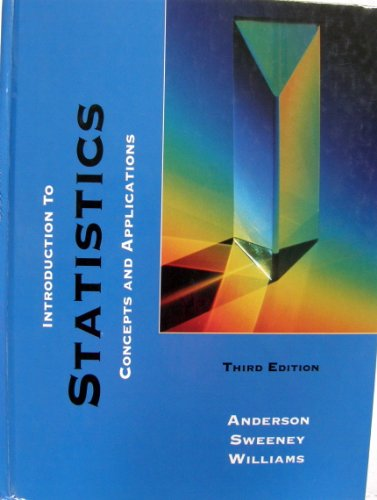 9780314028136: Introduction to Statistics: Concepts and Applications