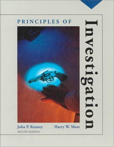 9780314028747: Principles of Investigation :