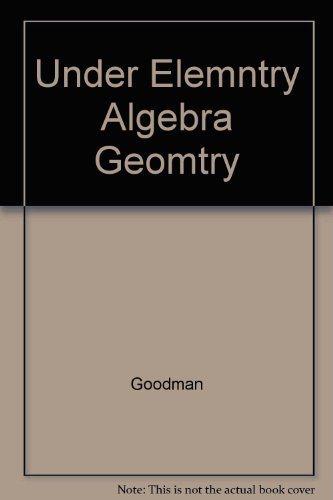 9780314028983: Understanding Elementary Algebra with Geometry :
