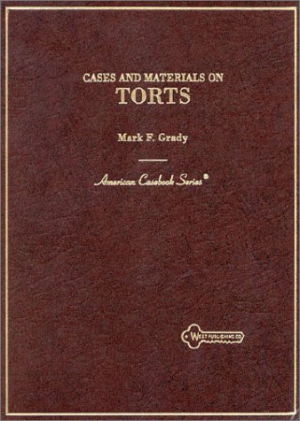 9780314029768: Torts, Cases and Materials on (American casebook series)