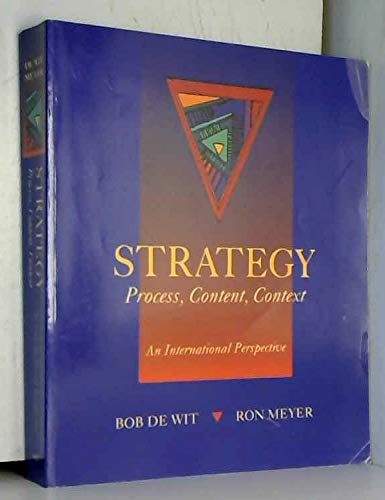 9780314032133: Strategy: Process, Content, Context