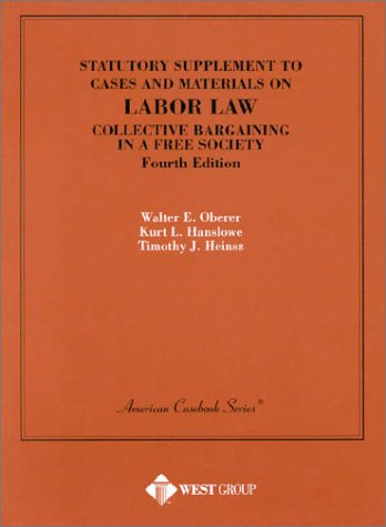 Statutory Supplement to Cases and Materials on: Kurt L. Hanslowe,