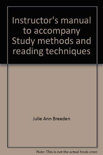 Instructor's manual to accompany Study methods and: Longman Publishing Staff