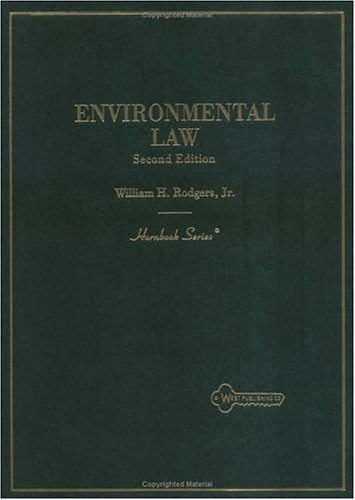 9780314035769: Environmental Law, 2nd Edition (Hornbook Series)