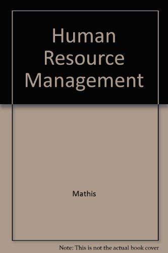 9780314035899: Human Resource Management
