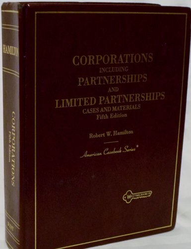 9780314039095: Cases and Materials on Corporations: Including Partnerships and Limited Partnerships (American Casebook)