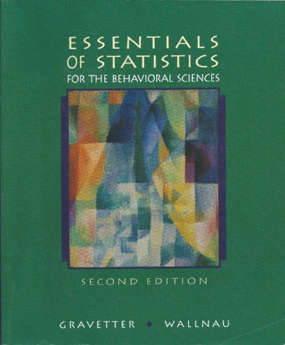 9780314040701: Essentials of Statistics for the Behavioral Sciences