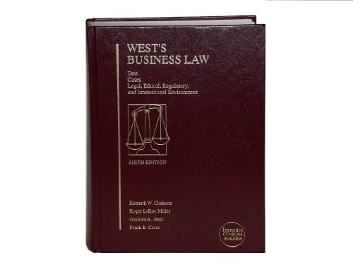 9780314042200: West's Business Law: Text, Cases, Legal and Regulatory Environment