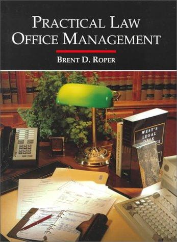 9780314043054: Practical Law Office Management :