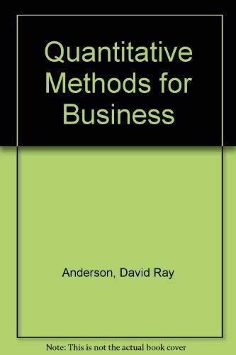 9780314044365: Quantitative Methods for Business