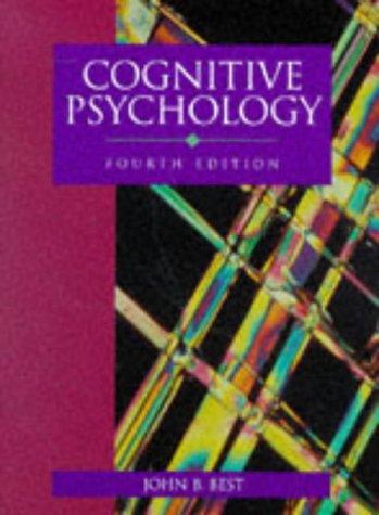 9780314044457: Cognitive Psychology 4e