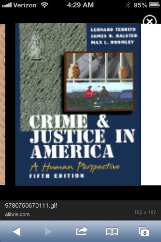 Crime and Justice in America : A: James B. Halsted;