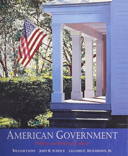 9780314045584: American Government: Politics and Political Culture
