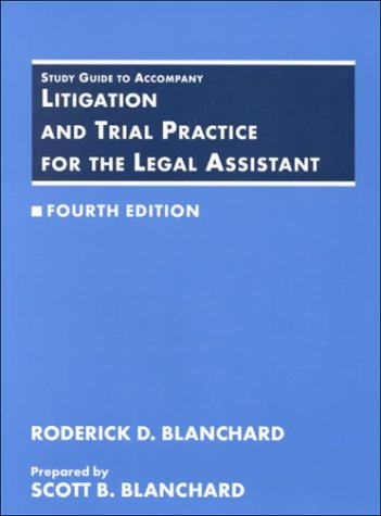 9780314049360: Litigation and Trial Practice for the Legal Assistant