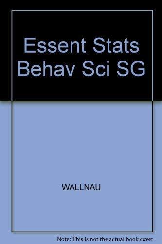 9780314049407: Essentials of Statistics for the Behavioral Sciences