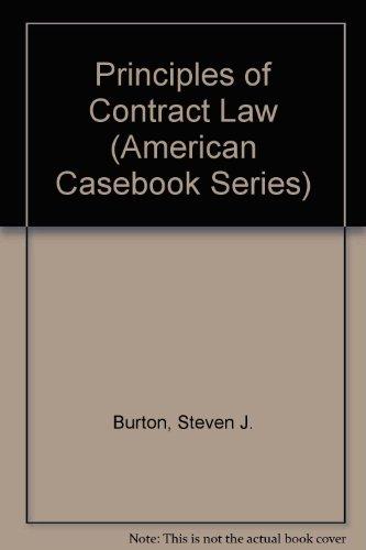 9780314049728: Principles of Contract Law (American Casebook Series)