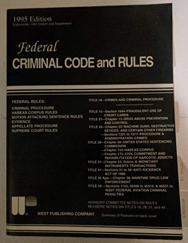Federal Criminal Code and Rules/September 1995 Supplement