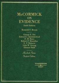 9780314054296: McCormick on Evidence (Practitioner Treatise Series)