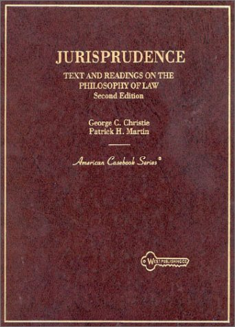 9780314056177: Jurisprudence: Text and Readings on the Philosophy of Law (American Casebook Series)